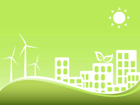 Green city utilizing wind power