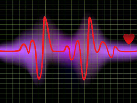 heartbeat monitor: Heartbeat monitor with a heart