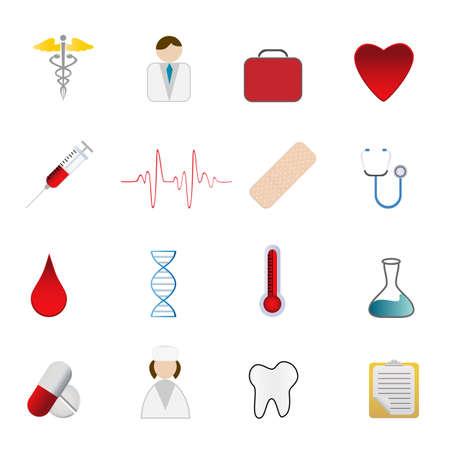 blood bag: Medical and health care symbols icon set