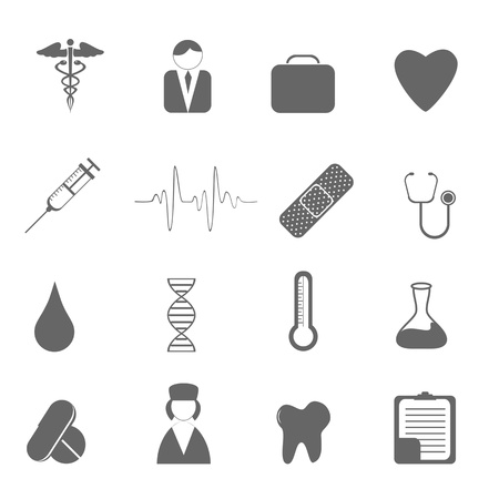 Cuidado de la salud y los iconos de médicos