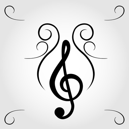 treble clef: Treble clef for sheet music