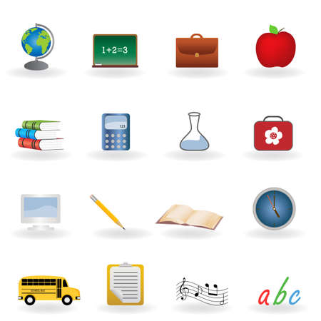 lunch box: Back to school icon set