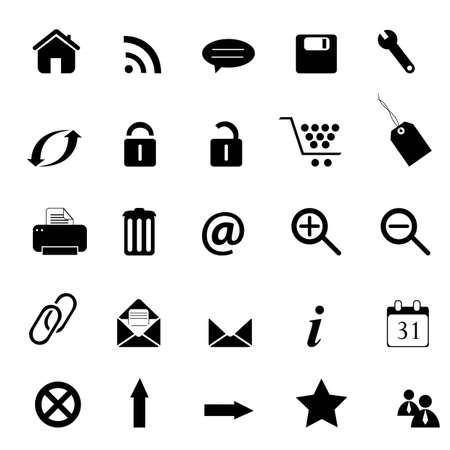 printer drawing: Web, e-commerce, e-business and internet icons