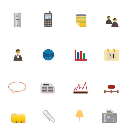 Various business related symbols in icon set Illustration