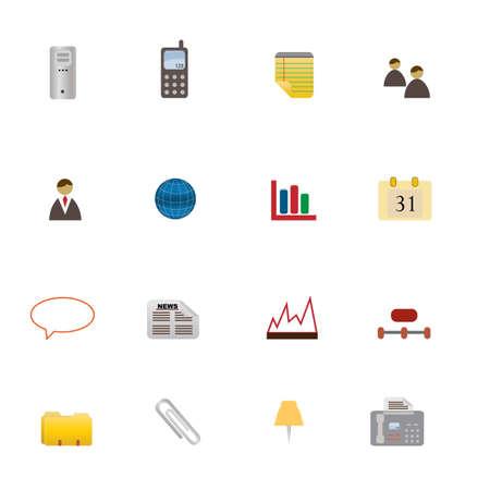 Verschiedene Business-verwandten Symbole in Icon-Set Standard-Bild - 12305429