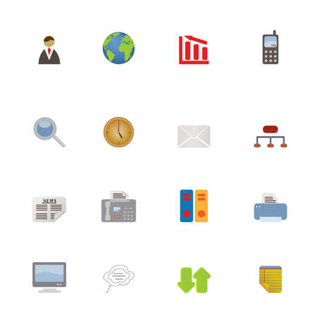 Business Icons and Symbols icon set Vector