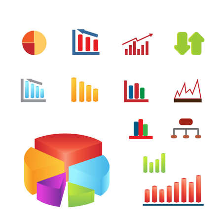 Various statistical charts for business and finance