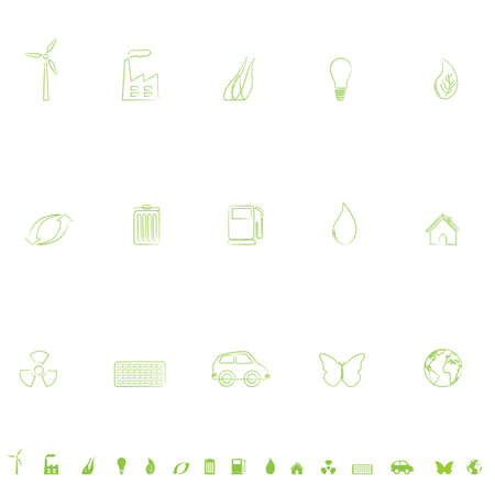 General environmental symbols icon set Vector