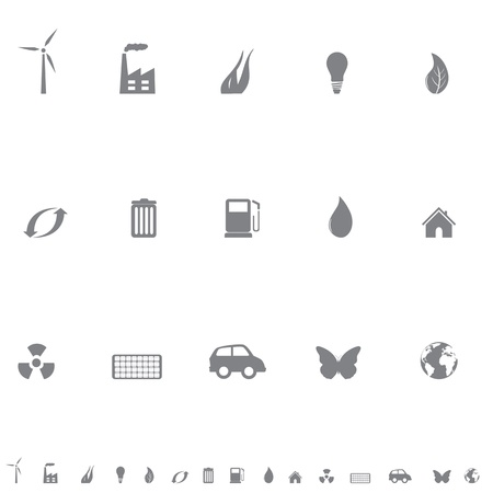 Environment friendly symbols icon set