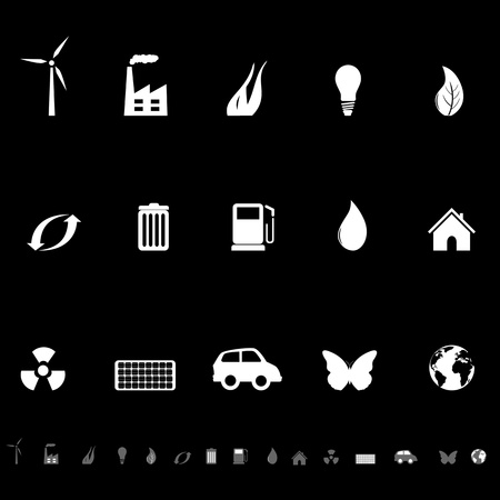 Ecology and environmental friendly symbols icon set Vettoriali