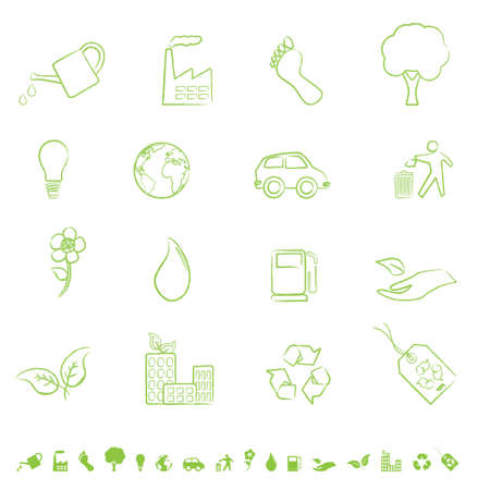 Eco and clean environment symbols Illustration