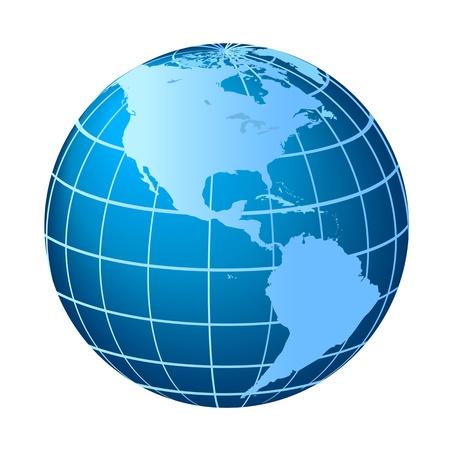Globe met Noord-en Zuid-Amerika