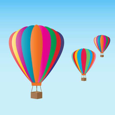 カラフルな熱気球フェスティバル  イラスト・ベクター素材