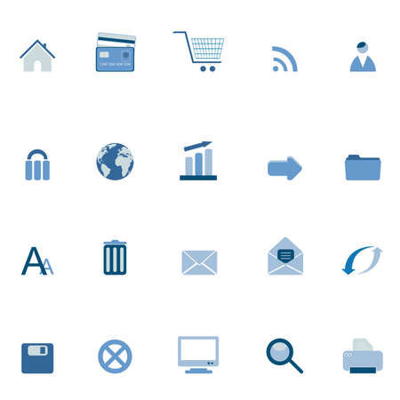 Internet and web symbols icon set Vector