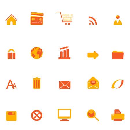 Various internet, web and e-commerce related icons Illusztráció