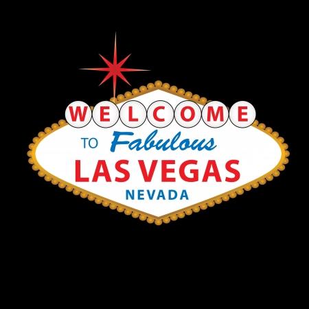 uithangbord: Welkom bij Fabulous Las Vegas Nevada teken Stock Illustratie