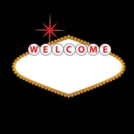 Blank Las Vegas Schild mit leeren Platz für Text Standard-Bild - 12305195