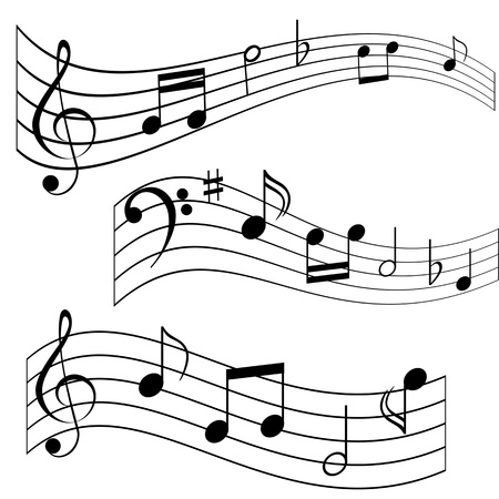 eight note: Musical notes on music sheet Illustration