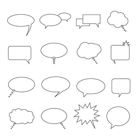 bijschrift: Spraak, denken en praten ballonnen en bellen