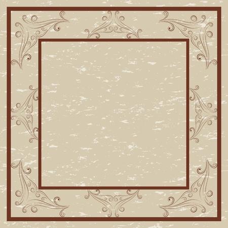 Cenefa decorativa y el marco para las invitaciones y tarjetas Foto de archivo - 13053574