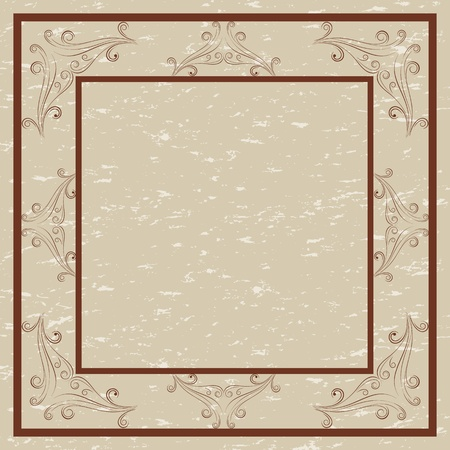 Decorative border and frame for invitations and cards Vector