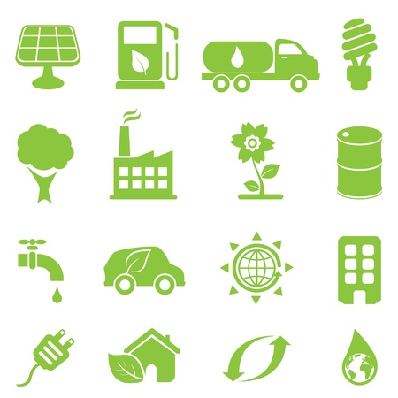 industrial drawing: Ecology and environment icon set Illustration