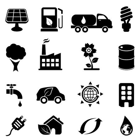 Eco and environment icon set Vector