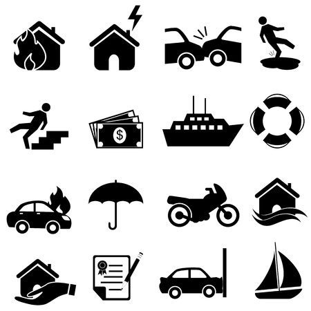 icon set in black Vector