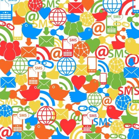 social network: Social network symbols as background Illustration