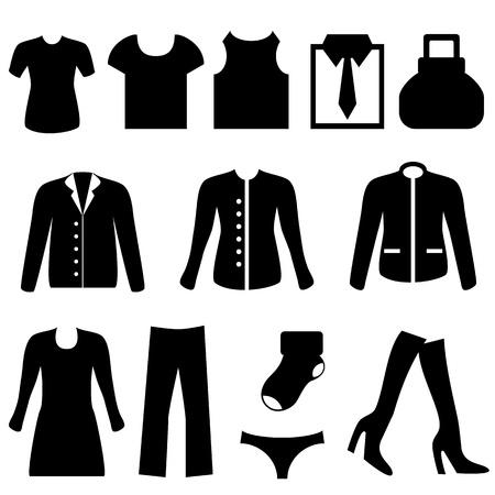 洋服アイコン セット ブラック