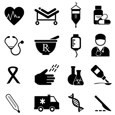 Health care and medical icon set Stock Vector - 19299175