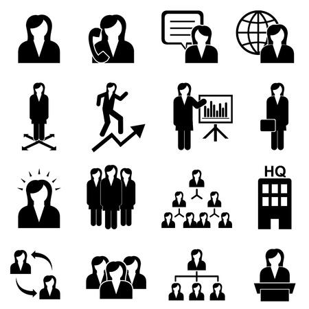 Businesswomen, teamwork and woman leader