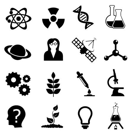 科学関連、物理学、生物学と化学のアイコンを設定