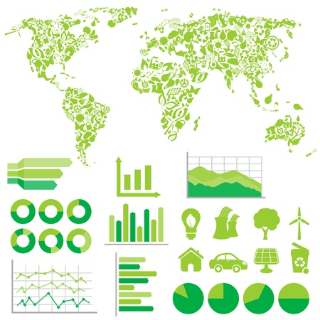 Ecology, green and environment infographics  Vector