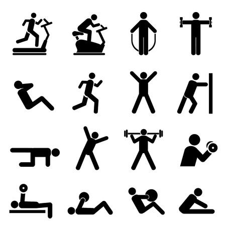 personas saltando: Gente que ejercita para la salud y el fitness