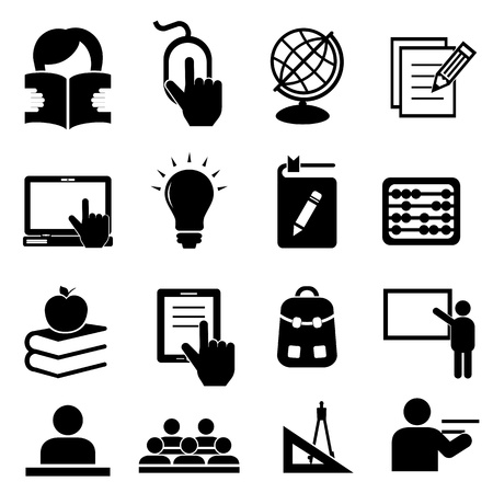 Back to school icon set Stock Vector - 21409555