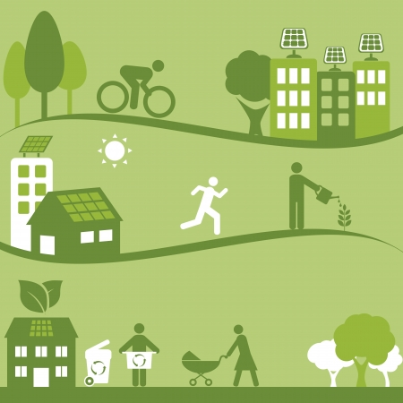 Solar energy and recycling for clean environment
