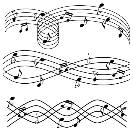 key signature: Various music notes on stave