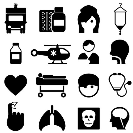 Health and medical icon set Vector