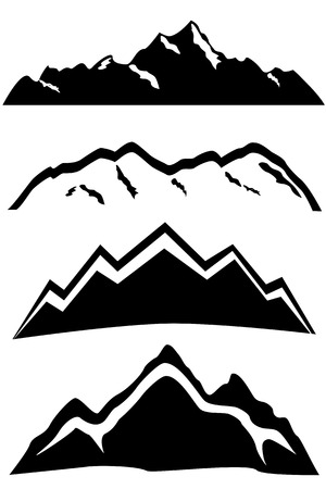 mountaintop: Mountain peaks landscapes with snow