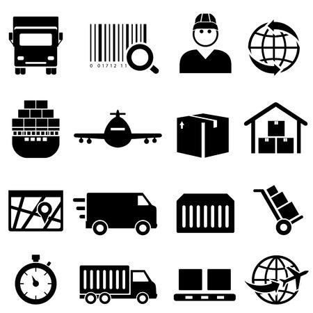 conveyer: Shipping and cargo icon set