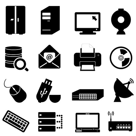 laptop repair: Computer and technology icon set