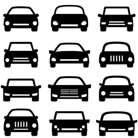 headlight: Various types of cars and autos Illustration