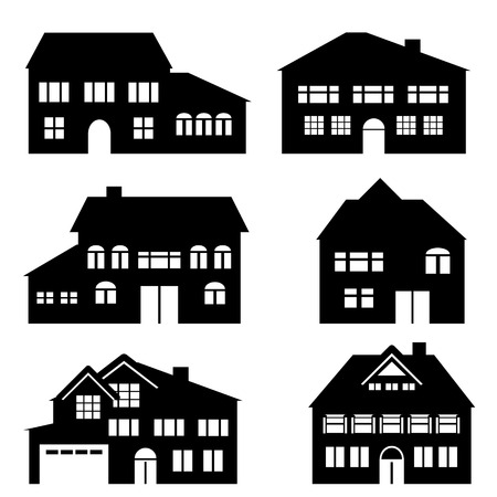 townhome: House, architecture and real estate icon set