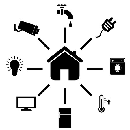 home appliances: Smart home and internet of things icon set