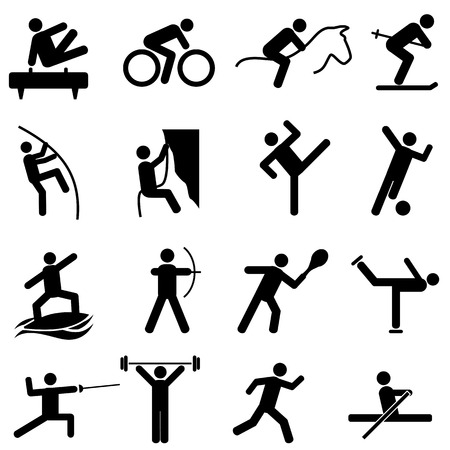 Sports and athletics icon set Ilustração