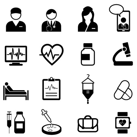 Medical, healthcare and health web icon set
