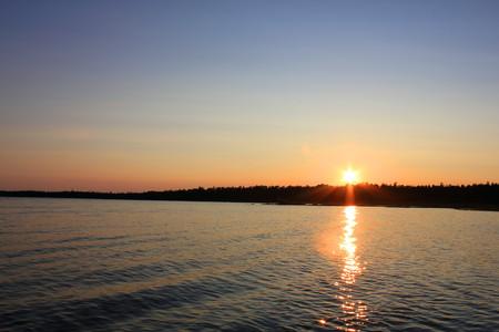 puesta de sol: Sunset Beach  Foto de archivo