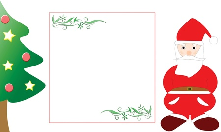Christmas card with the tree and santa claus Stock Vector - 10422250