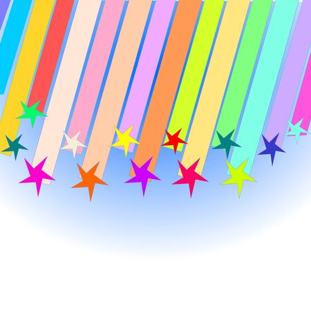 colored shooting stars Vector